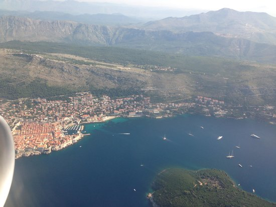 Hotel Lapad: view of the old town from the plane on the way in!