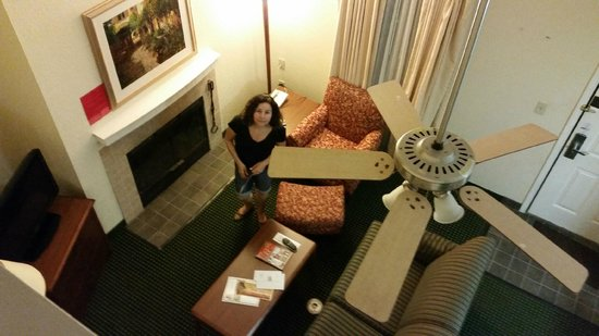 Sonesta ES Suites Providence - Airport: View from top section, nice fire place in living room area