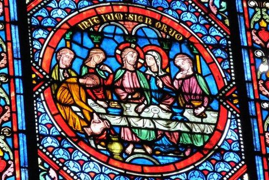 Saint-Omer Cathedral : Détail d'un vitrail