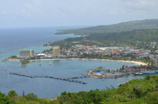 Rainforest Adventures Jamaica : Amazing views of the port...
