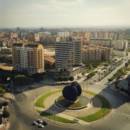 Eurostars Gran Valencia: View from the room