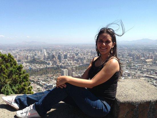 Cerro San Cristóbal: Vista de Santiago desde el cerro San Cristobal