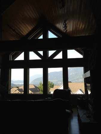 True North B&B: view through upstairs windows at breakfast
