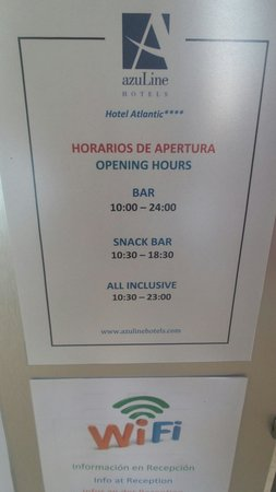 azuLine Hotel Atlantic : As all inclusive shouldn't we have free untill the bar closes!