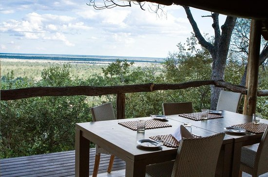 Ghoha Hills Savuti: View of the plains from the dining area