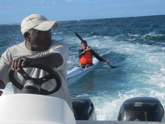 Dive Time Mauritius goes surfski escort