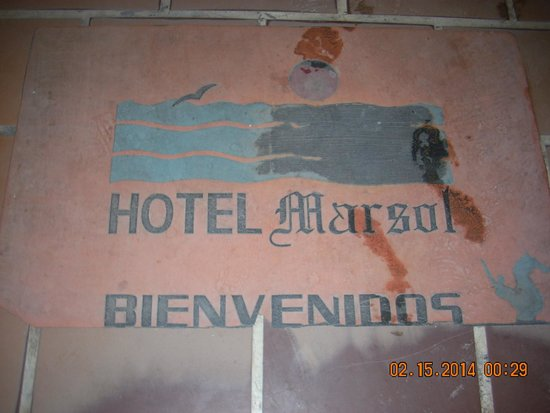 Marsol Hotel: Front mat at the entrance.  You'll feel at home right away.