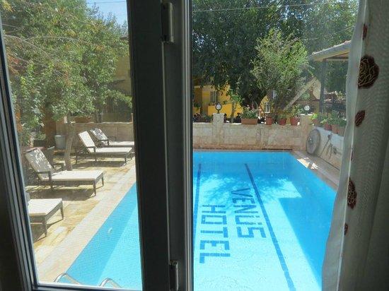 Venus Hotel: La piscina vista desde la habitación