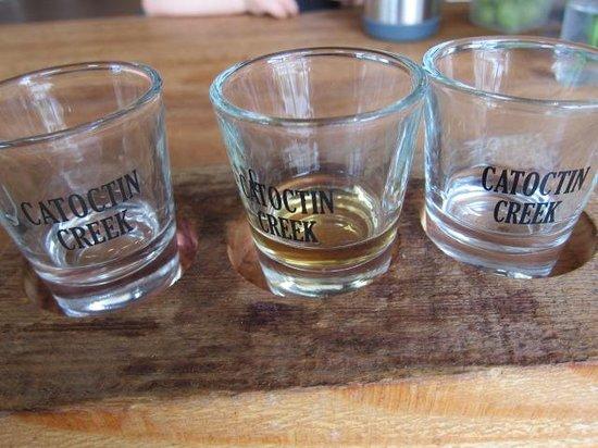 Catoctin Creek Distillery: Sampling glasses