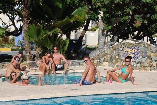 Nanny Cay Marina & Hotel: Celebrating with friends at the pool.
