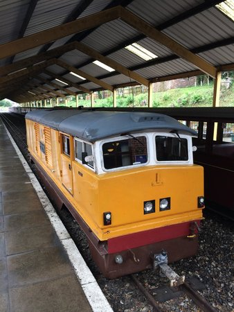 Bure Valley Railway : A diesel engine, awaiting it's turn later in the day.
