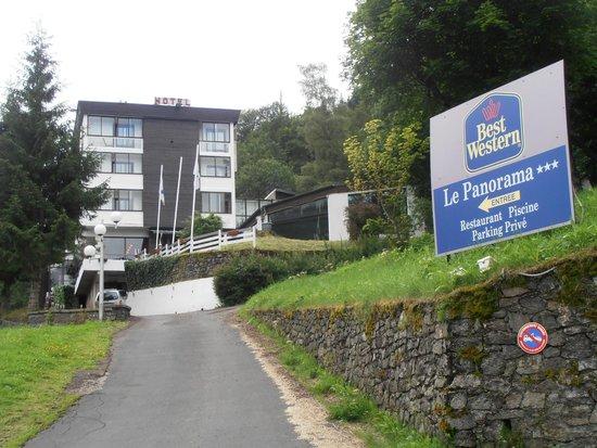 Hotel Le Panorama : Zufahrt