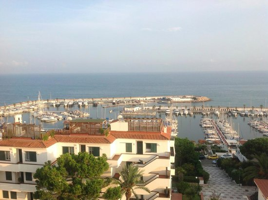 Meliá Sitges: View over the Med from the 6th floor.