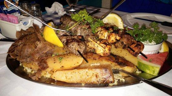 Joe Feta's Greek Village : A heap of food in the Mezedes Feast