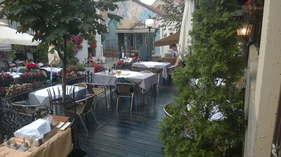 The Two Deer Restaurant : Terrace on the Skadarlija side