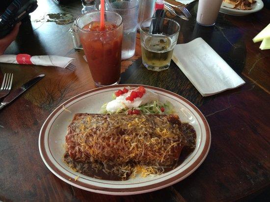 "JJ""s La Puerta: Smothered Burrito"