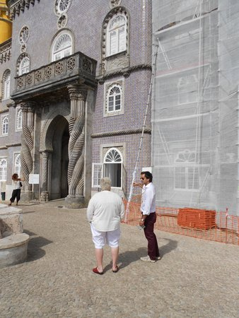 Lisbon Secrets - Guided Tours : Perdo with my wife at Pina Palace