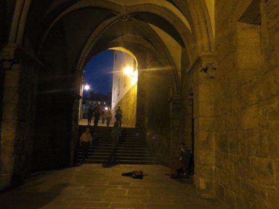 Hotel Avenida: scene notturne a Santiago de Compostela