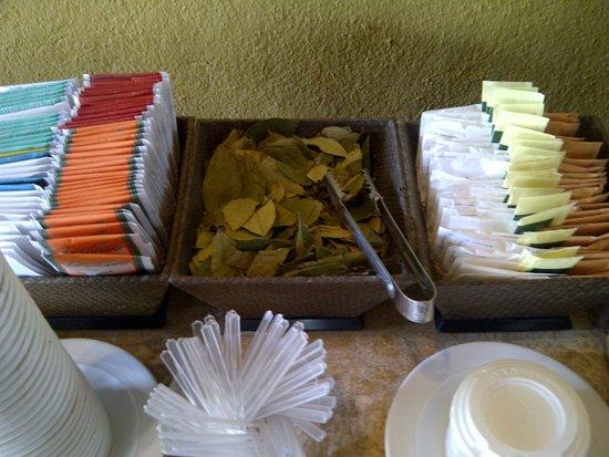 Tambo del Inka, A Luxury Collection Resort & Spa, Valle Sagrado: Chá e folhas de coca de cortesia na recepção
