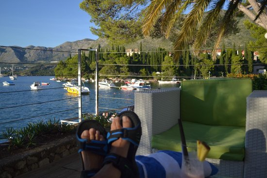 Hotel Cavtat: View from the resturant & bar