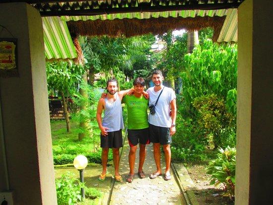 Chitwan Forest Resort: Us and Deepak