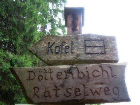 Ettal Wintersport: Wildfutterung im Grasswangtal: Döttenbichl