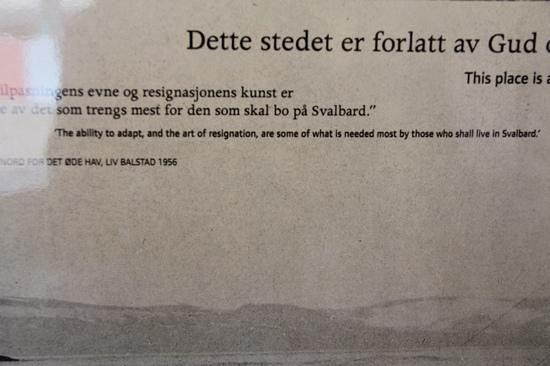 Svalbard Museum: quote