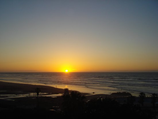 Le Littoral : Sunset from the Balcony