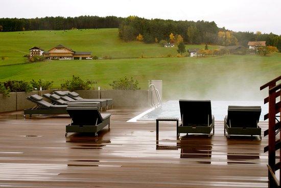 Piscina esterna Hotel Alpenflora