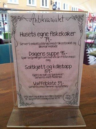 Antikvariatet : menu