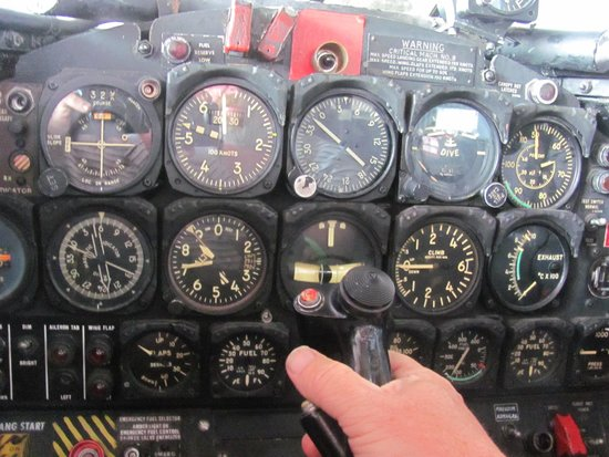 Naval Air Station Wildwood Aviation Museum: Sitting in the fighter seat
