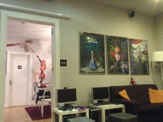 Rivoli Cinema Hostel: Decoração