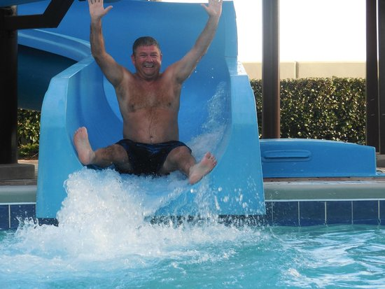 Phoenix West : One of the 8 adults having a blast on the slide.