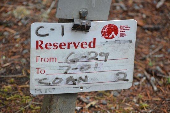 Ohanapecosh Campground : Reservation