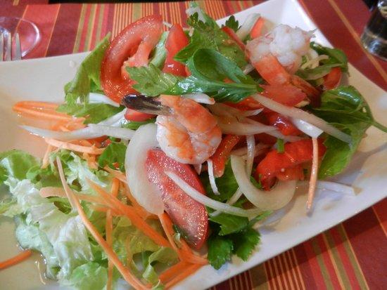 Ban Thai : Salade thaïe aux crevettes