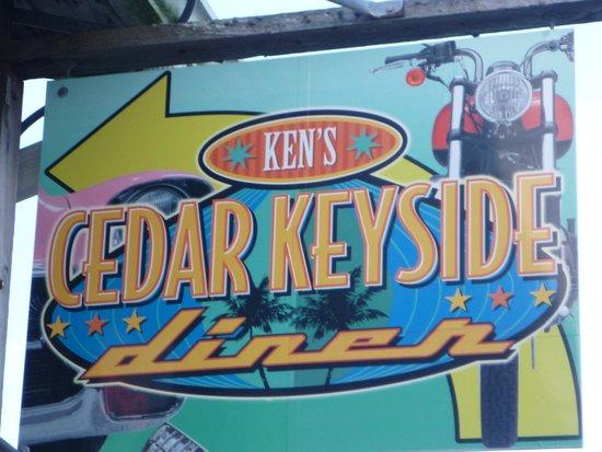 Ken's Cedar Keyside Diner: Ken's Cedar Keyside Sign