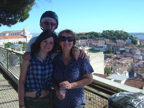 Lisbon by Segway : St Jorges Castle in the background