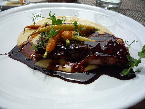 Ghent Marriott Restaurant: buikspek met garnituur