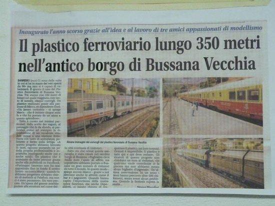 Old Bussana (Bussana Vecchia): modelisme de trains miniatures sur 350m