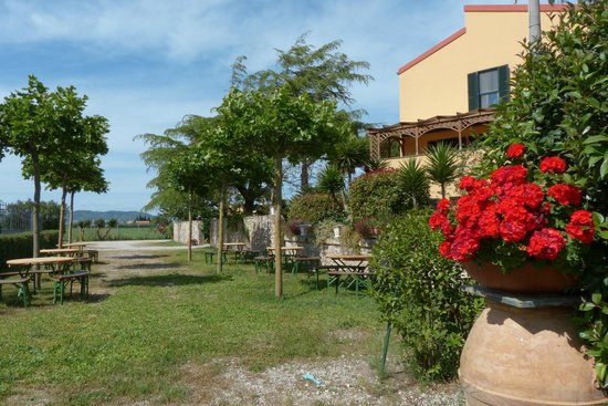 La Cuccumella: I tavoli vicini all'area barbeque