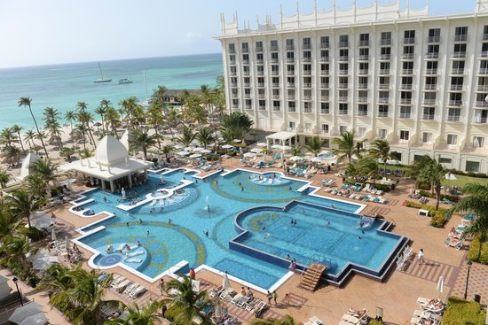Hotel Riu Palace Aruba: From Balcony Photo of Swim Up Pool