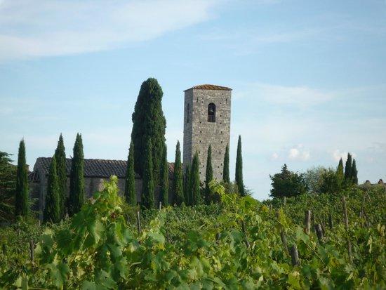 Castello di Spaltenna Exclusive Tuscan Resort & Spa : le clocher de la chapelle