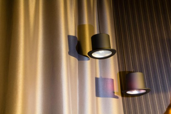 Scandic Paasi: Circus themed lampshades in the room