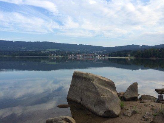 Landal Marina Lipno: View towards Lipno from other side of lake