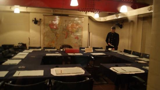 Churchill War Rooms: photo of one of the rooms as it would have been,