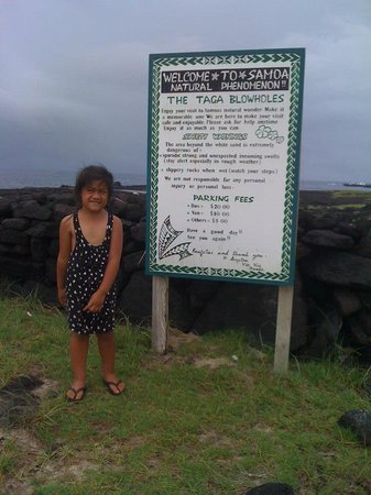 Alofaaga Blowholes : The fee's to get in to the attraction