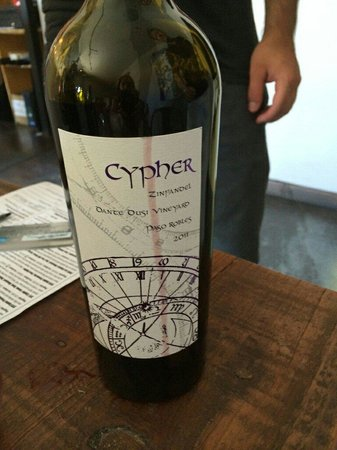 Cypher Winery : Best Dusi we tried in Paso. And we tried many from a number of vineyards.
