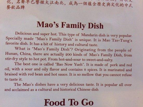 The Noodle Shop: Description of the food