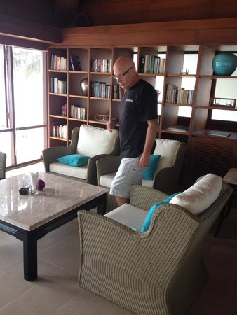 The Boathouse Phuket: The library was a spectacular Dining area for private functions at sunset