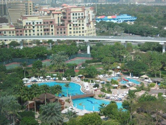 Grand Hyatt Dubai: The pool seen from the 10th floor